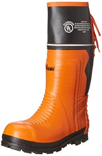 Viking Men's Class 2 Chainsaw Boot, Black/Orange - 10