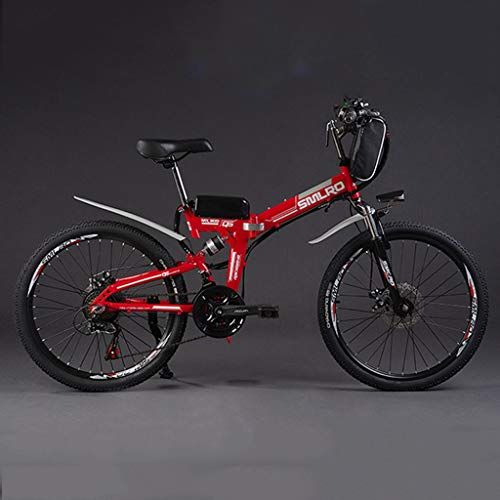 SZPDD Bicicleta de montaña Bicicleta eléctrica 36V350W 8Ah Potente Bicicleta eléctrica de Grasa Batería de Litio Off Road Bike