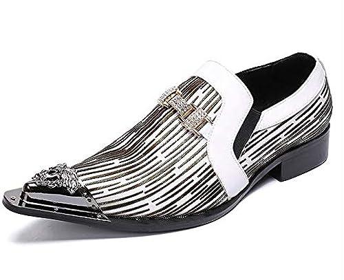 LOVDRAM zapatos De Cuero para Hombre Nuevos hombres De Negocios zapatos De Vestir Moda Hombre zapatos De Boda De Cuero Genuino Social Sapato Hombre Oxfords Pisos zapatos Sapatos 6.5 As Pic