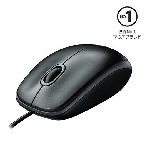 Logicool ロジクール 有線光学式3ボタン マウス M100r ブラック