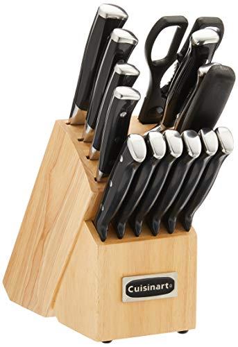 Cuisinart C77BTR-15P Triple Rivet Collection 15-Piece Cutlery Block Set, Black