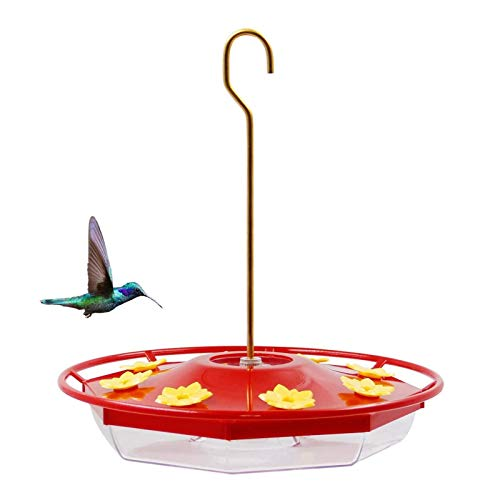 Brwoynn Hummingbird Feeder, 16 Fluid Ounces Flower Bird Feeder with 8...