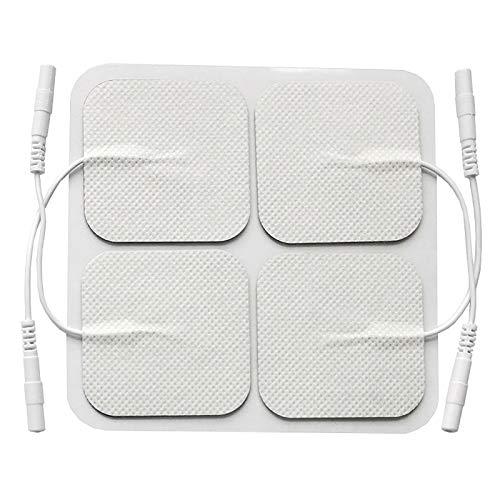 Electrodo Espalda Almohadillas Autoadhesivas Cuello Piernas - Electrodos Alto Rendimiento Larga Duración, Self Adhesive Electrodes Masaje Gel Conductor Adhesivos Gelificados (2.0mm)