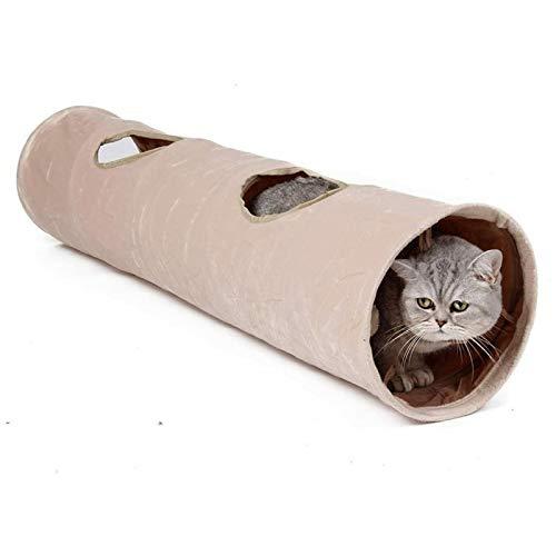 YFFSBBGSDK Túnel para Gatos y Perros Práctico túnel para Gatos Tubo para Mascotas Juguete de diversión Plegable para Interiores y Exteriores Gatito Ejercicio Educativo Juguete de Entrenamiento Oculto
