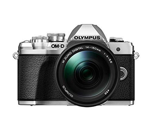 Olympus OM-D E-M10 Mark III Systemkamera (16 Megapixel, 5-Achsen Bildstabilisator, elektronischer Sucher, 4K, WLAN, nur Gehäuse) Silber inkl. M.Zuiko Digital 14-150mm F4.0-5.6 II