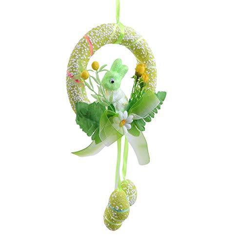 Greatlizard Kaninchen Osterdekor, nettes Kaninchen hängendes Ornament für Osterdekoration Frohe Ostereier Körbe Partydekor Hase 4 Farben
