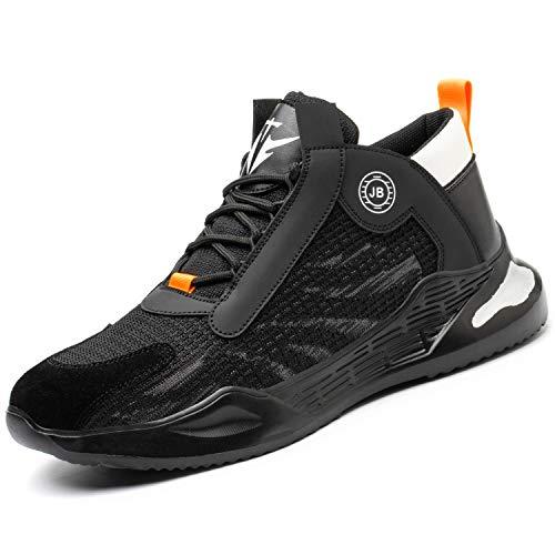 [JUDBF] 安全靴 スニ一カ一 作業靴 軽量 あんぜん靴 おしゃれ スニ一カ一鋼先芯 メッシュ 通気性 工事現場 耐摩耗 防刺 耐滑 ワークシューズ セーフティーシューズ780Black/42