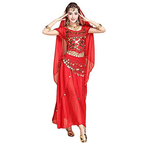 Ansemen Danza del Vientre Disfraz para Mujer Danza del Vientre Tops y Faldas Trajes Indio Danza Prctica Ropa
