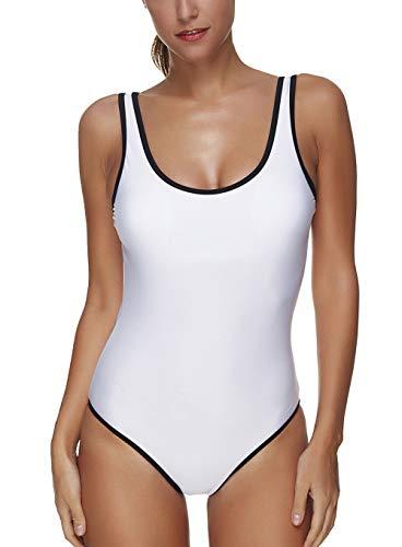 Vrouwen Een Stuk Afslanken Monokini Diepe V Gecapitonneerde Uitsnijding Bikini Driehoek Briefs Badpak voor Surfen