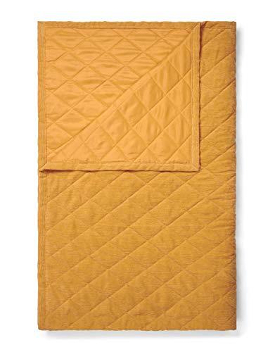 ESSENZA Quilt Billie Uni Polyester Senfgelb, 220x265 cm