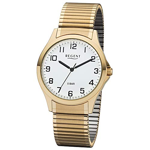 Regent 11300028 Herrenuhr, Zugband, Gold