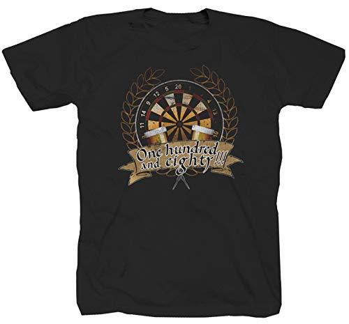 Dart Bullseye WM Kult schwarz T-Shirt (2XL)
