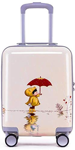 Cartoon trolleykoffer For Kids Rolling Bagage Spinner Kinderen Travel Bag On Wheels ABS + PC, cadeau Rabbit's Leuk speelgoed voor kinderen. (Color : Baby Sprout)