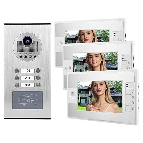 Cámara Video de la Puerta del Timbre de los monitores de la Pantalla 3 TFT(European Standard (100-240v))