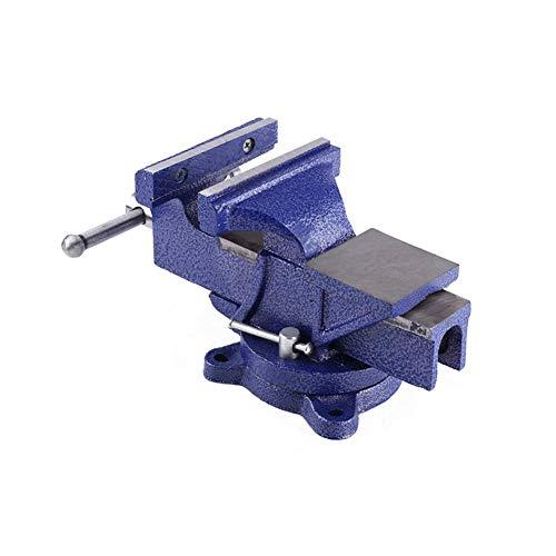 5in banco del vector de Vise, Heavy Duty Vise Ingenieros de prensa con/Yunque base giratoria las mordazas de sujeción Mesa de Trabajo Banco de apriete para la reparación de herramientas fijo
