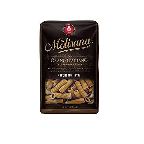 La Molisana, Pasta Integrale Maccheroni n.37 Pasta Corta, SOLO Grano Italiano - 12 confezioni da 500g (tot 6kg)