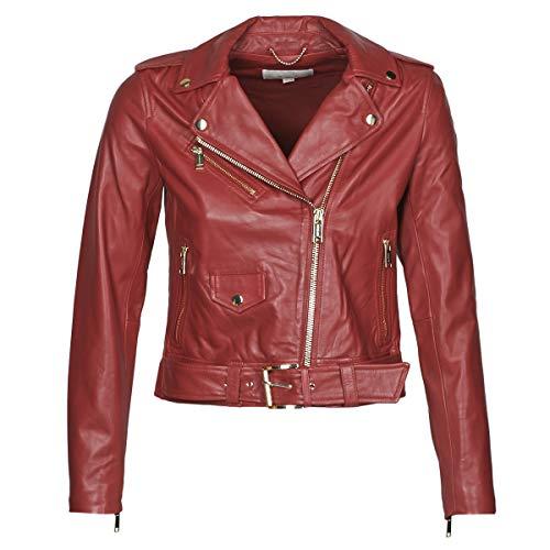 Michael Michael Kors Classic Moto Jacken Damen Bordeaux - M - Lederjacken/Kunstlederjacken Outerwear