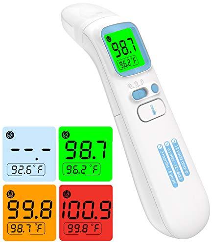 DISEN Fieberthermometer, digital Infrarot Thermometer, kontaktlos Stirnthermometer Ohrthermometer, Stirn und Ohr Thermometer für Baby