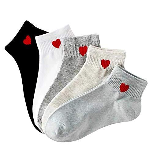 Bella & Flores - Socken 'Made with Love', 5er-Pack, 35-39, Mehrfarbig