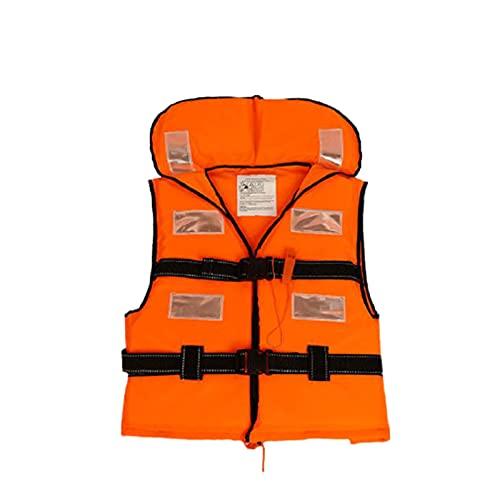 Chaleco Salvavidas de NatacióN Chaqueta Life Jacket para Adulto con Reflector PoliéSter Hebilla Ajustable Plegable y PortáTil para la Playa,