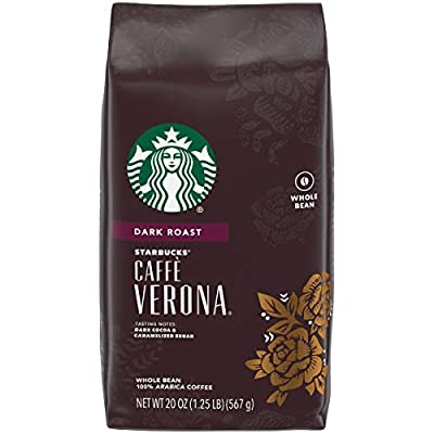 Starbucks Dark Roast Whole Bean Coffee — Caffé Verona — 100% Arabica — 6 bags (20 oz. each)