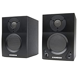 Samson MediaOne BT3 Active Studio Monitors with Bluetooth, 3-Inch, Bluetooth Enabled