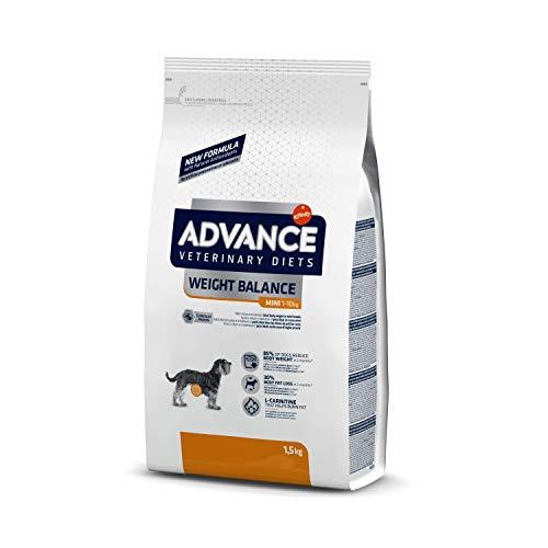 ADVANCE Veterinary Diets Weight Balance Mini - Croquettes pour Chien en Surcharge Pondérale - 1,5kg