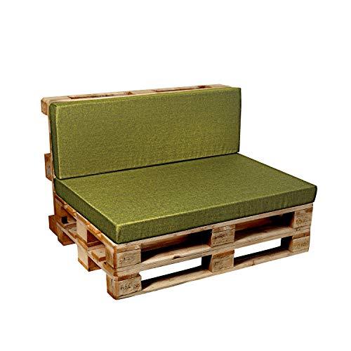 Garden factory Coussins pour Canape Euro Palette, Assise, Dossier, Set, extérieur intérieur Dossier 120x60 Citron Vert