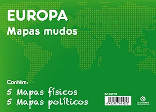 Grupo Erik Editores Pack 10 Mapas Mudos En Portugúes Europa Politica Fisica