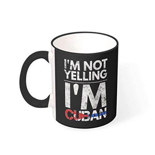 O5KFD&8 11 oz Ich Schreie Nicht, ich Bin Kubaner Becher Glatte Keramik Fun Becher - Lustige Sprüche Männer Geschenke (Beidseitig Bedrucken) drakblack 330ml