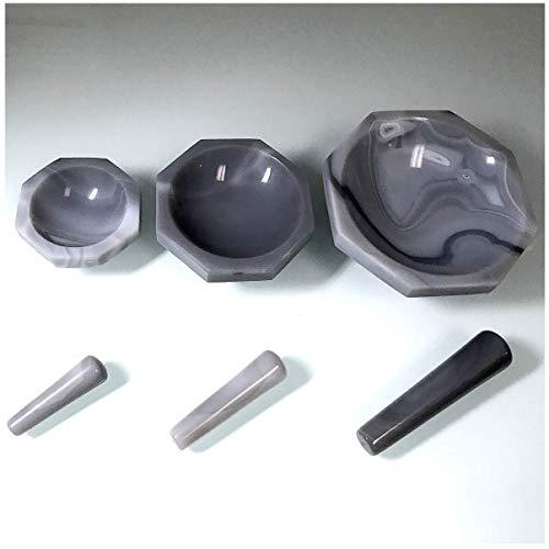 Alpha Nanotech Agate Mortar and Pestle (Inner Diameter 100 mm; Inner Depth 30 mm)