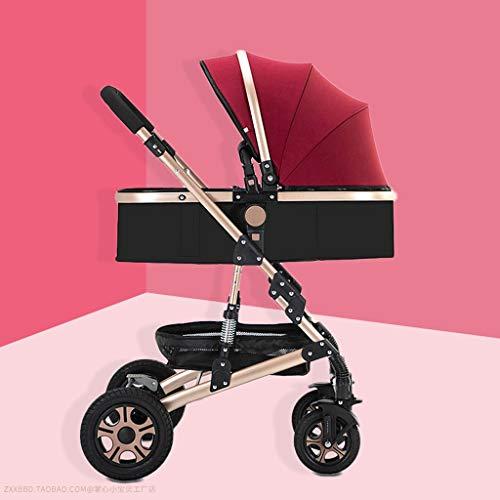 Strr lichte buggy, elegant en veelzijdig, eenvoudig voor de auto, voor baby's, extra grote opbergmand, kinderwagen