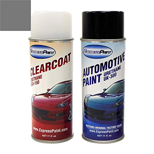 ExpressPaint Aerosol - Automotive Touch-up Paint for Ford F-Series, F150, F250, F350 - Sterling Gray Metallic Clearcoat UJ - Color + Clearcoat Package