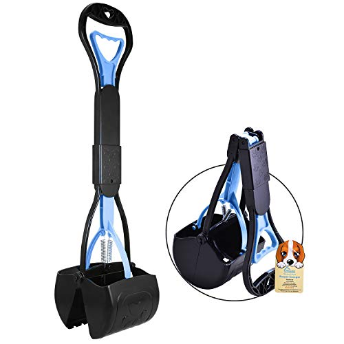 PPOGOO Non-Breakable Pet Pooper Scooper for Dogs and Cats with Long Handle High Strength Material...