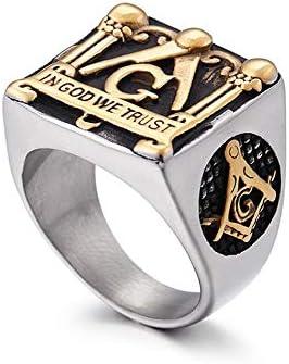 Fashion We Trust God Philadelphia Mall Gold Color Kansas City Mall 316L Masonic Steel Men Stainless