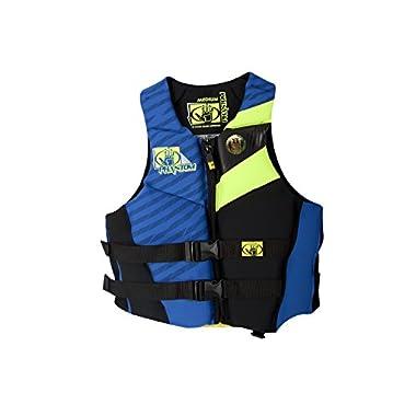 Body Glove Men's Phantom U.S. Coast Guard Approved Neoprene PFD Life Vest, Royal/Lemon, Large