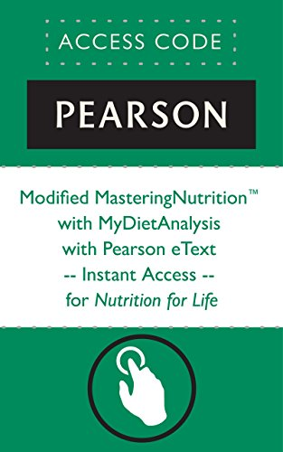 Download Modified MasteringNutrition with MyDietAnalysis with Pearson eText -- Instant Access -- for Nutrition for Life B013JBCLNU
