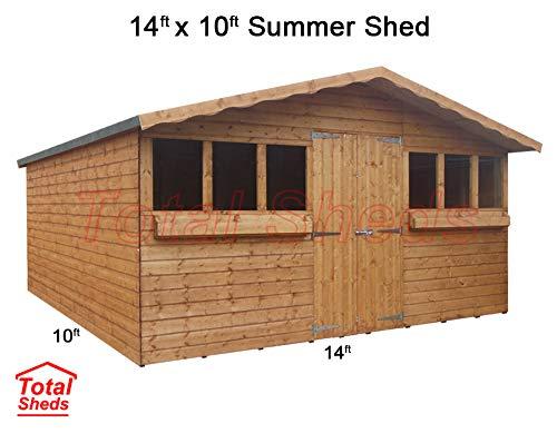 Total Sheds 14ft (4.2m) x 10ft (3.0m) Garden Shed Summer Shed Timber Shed
