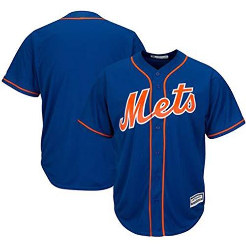 Herren Baseball Trikot Weißes Hemd - New York Metropolis Professionelle technische Kleidung Athleten Trikot Fans Shirt Mesh Schnelltrocknendes Kurzarm Fans Sweatshirt-Blue-XXXL(195.200CM)