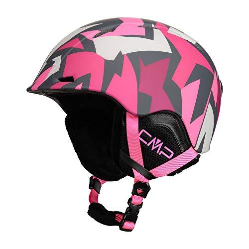 Cmp Casco Da Sci E Snowboard Xj-4, Unisex Bambini, Magenta-Pink Fluo, S, Magenta-Pink Fluo