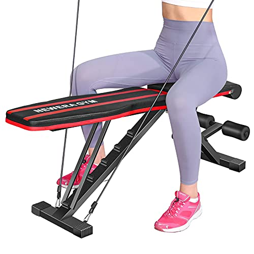 NEWERA GYM Weight Bench Adjustable Incline Benches for Home Gym Full Body Strength Training, Foldable Design, Heavy Duty Frame