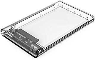 ORICO, USB 3 External Hard Drive Enclosure Casing for 2.5 inch 7mm/9.5mm SATA HDD SSD Support UASP SATA III Max 2T Tool-Free Design - Clear