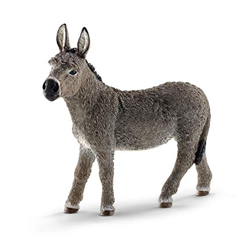 SCHLEICH Farm World Donkey Educational Figurine for Kids Ages 3-8