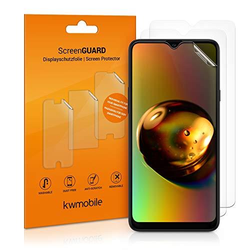 kwmobile 3x pellicola salvaschermo compatibile con Samsung Galaxy A20s - Film protettivo proteggi telefono - protezione antigraffio display smartphone
