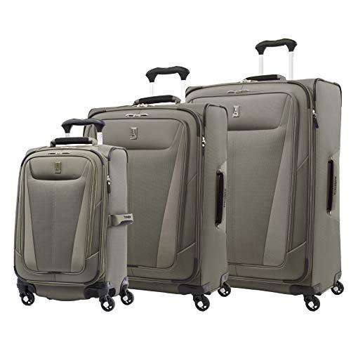 Travelpro Maxlite 5-Softside Expandable Spinner Wheel Luggage, Slate Green, 3-Piece Set (21/25/29)