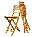 Interbuild Sofia Bar Chair|Foldable | 2-Piece Set … (Golden Teak)