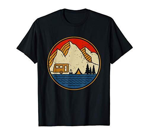 Caravan, Zelt Camping Urlaub an den Bergen mit dem Wohnwagen T-Shirt