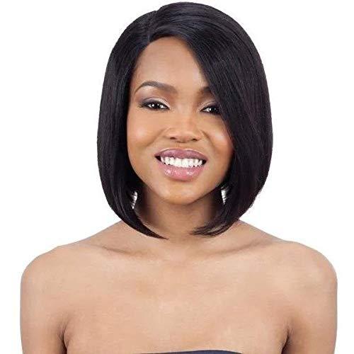Mayde Beauty 100% Human Hair Lace and Lace Front Wig - ANGLED BOB (NATURAL/DK)