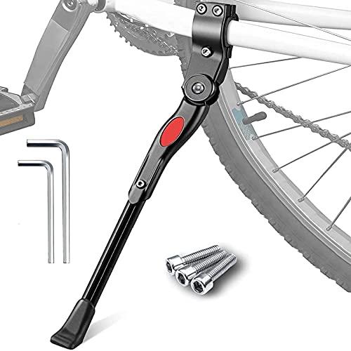 XJWJD Soporte Lateral Antideslizante para Bicicletas Soporte De Goma De 24-28 Pulgadas, Soporte De Bicicleta Ajustable En Altura En Negro Accesorios para Bicicletas De Bicicleta De Montaña