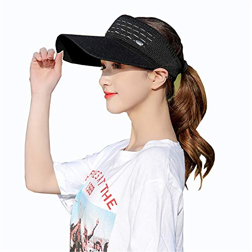 LTH-GD Gorro de invierno para mujer, con protección UV, color negro, talla: talla libre